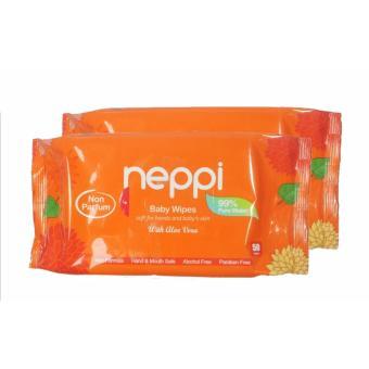 Neppi Baby Wipes Parfum 50 sheet x2 pack