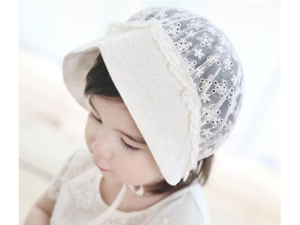 New born Summer Hats Girls Princess Hat Infant Toddler Sunhatbreathable Baby Cap with holes