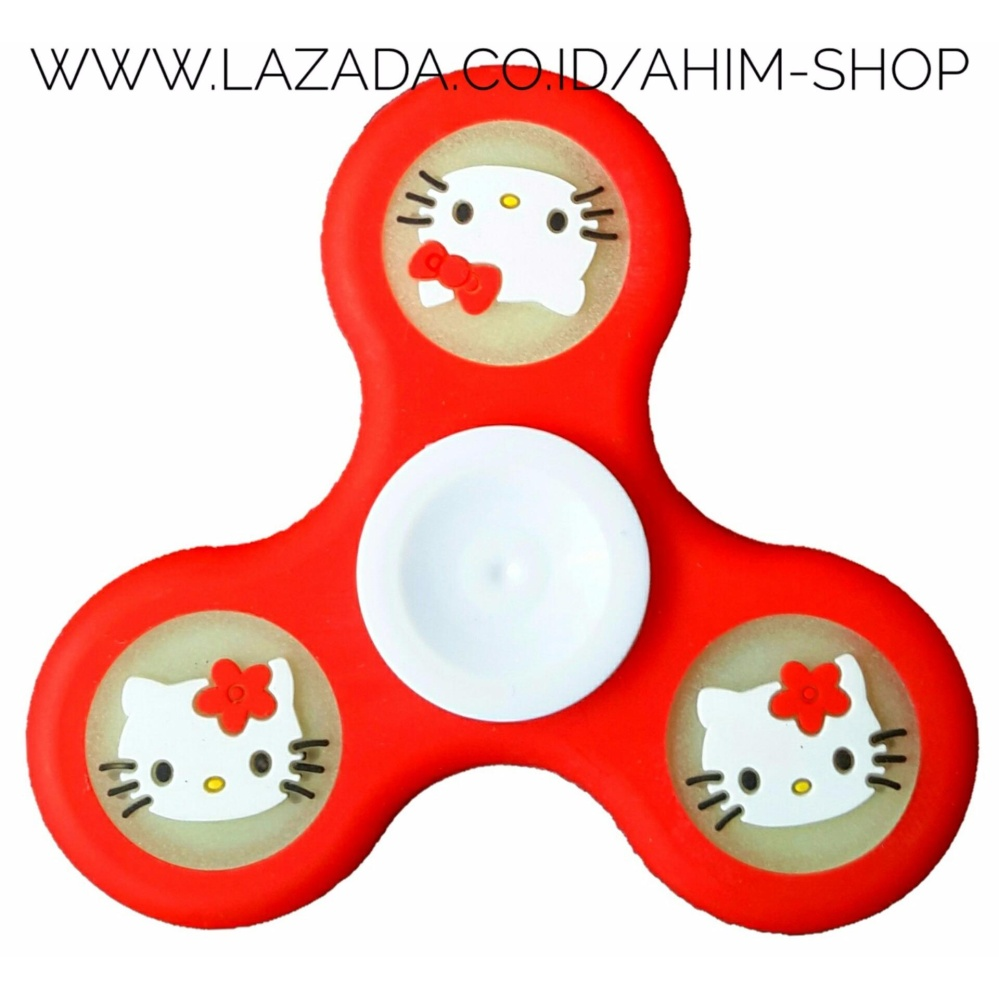 Fidget Spinner Kelelawar Bat Man Series Type Motif Hand Toys Mainan Aimons Spiner Random Color New Hello Kitty Rubber Pu Glow In The Dark