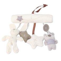 niceEshop Baby Cute Plush Activity Crib Stroller Soft Toys Hanging Rabbit Star Shape, OffWhite - intl