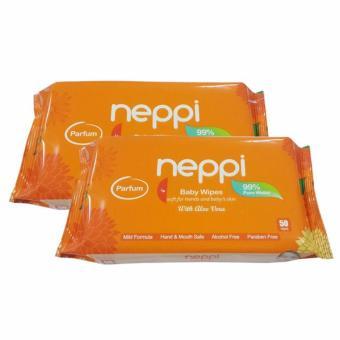 NTR Buy 1 Get 1 Neppi Baby Wipes Parfume 50's 50 Wipes - Tissue Basah