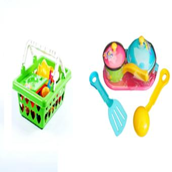 Ocean Toy Keranjang Masak + Kitchen Set Mainan Anak - Multicolor