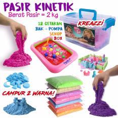 Paket Pasir Kinetik 2 KG + Aksesoris - Kinetic Play Sand Mainan Edukasi