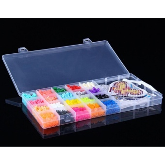 Jual Perler Beads Fuse Beads Kit Includes 2000 Beads In 20 Colors 2 Pegboards Color Cards Tweezers Ironing Paper And Introduction Book - Intl Murah