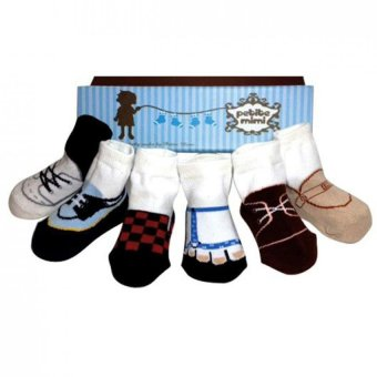 Petite Mimi Socks 6 Packs - 0-12M - Boy Combination