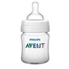 Philips Avent Classic+ Baby Bottle 4oz/125ml Newborn Flow Nipple 0m+ SCF560/17 Putih