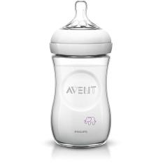 Philips AVENT Elephant Natural Baby Bottle SCF628/17 9oz/260ml Slow Flow Nipple - Putih
