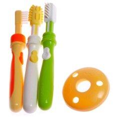 Pigeon Training Tootbrush Set L 123 - Paket sikat gigi anak