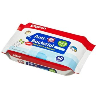 Pigeon Wipes Anti Bacterial - Tisu Basah - 60 Lembar