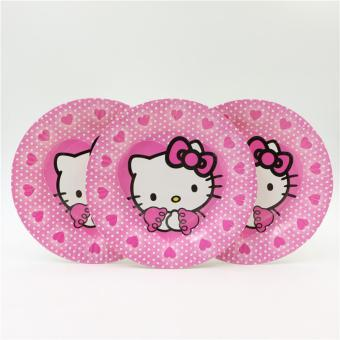 Piring Motif Hello Kitty 10 Pcs