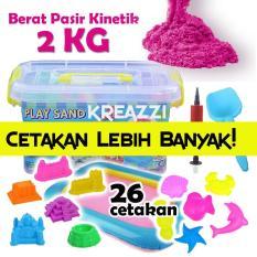 Play Sand Pasir Kinetik 2 Kg - PINK + Aksesoris