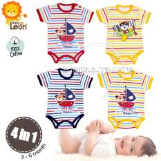 PREMIUM BAJU BAYI Bodysuit 4 in 1 Cotton 100% Lembut BC-01 MOTIF RANDOM / Baju Bayi anak perempuan laki laki / Pakaian bayi / Perlengkapan bayi