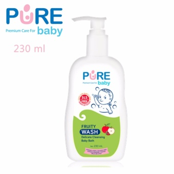 Pure Baby Wash 2 In 1 Fruity 230 Ml (Baby Bath And Shampoo)