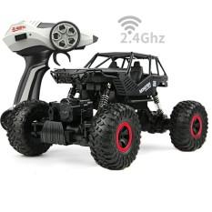 REMOTE CONTROL ROCK CRAWLER SKALA 1.18 4WD OFFROAD 2.4ghz - MOBIL REMOTE TERLARIS - hitam