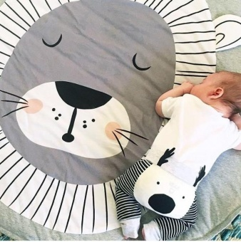 Rorychen Lion Print Cotton Child Crawling Pad Game Pad PlayMatsLiving Room Bedroom Mats Thicker Children's Crawling Pad - intl
