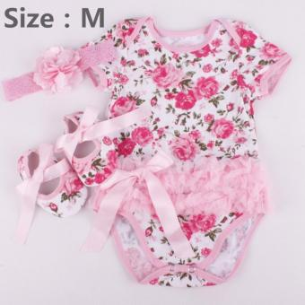 Rose Flower Newborn Baby Girls Romper Tutu Dress Jumpsuit Outfits Clothes - intl