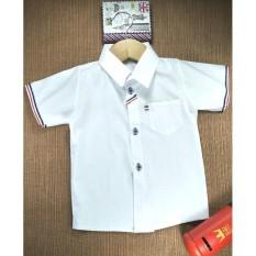 Rosita Baju Atasan Kemeja Anak Laki - laki Cowok 1-2 Tahun - Stripe Putih