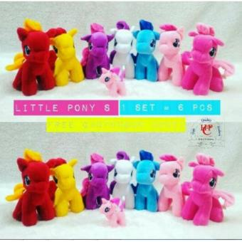 Satu Set Little Kuda Pony Lucu Lucu