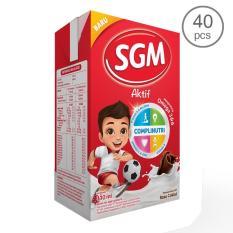 SGM Aktif Susu UHT rasa Coklat 110Ml - Karton isi 40 pcs