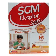 SGM Eksplor Soya Presinutri+ 1-5 Tahun Susu Pertumbuhan - Madu - 400gr