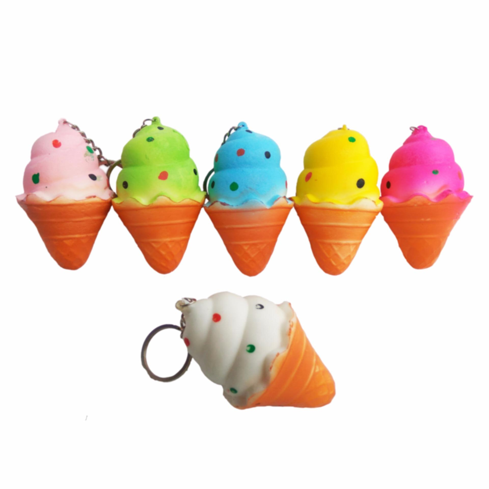 Daftar Harga Simply Chic Squishy Gantungan Kunci Es Krim Key Holder Tempat Simulation Ice Cream Slow Rising Fun