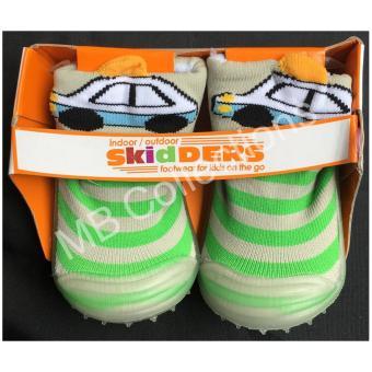 Skidder Sepatu Bayi / Sepatu Karet Bayi / Skidder Sepatu Motif 3DMobil Hijau Uk 22