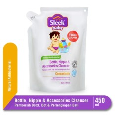 Sleek Baby Bottle Nipple & Accessories Cleanser Pouch Refill - 450 mL