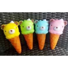 Squishy Medium Candy Color Rilakkuma Ice Cream Cone Squishy Slow Rising Squishy Toy