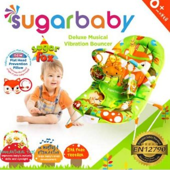 harga Sugar Baby Sugar Fox Deluxe Musical Vibration Bouncer - Ayunan Bayi (Hijau) Lazada.co.id
