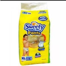 Sweety Bronze Pants Popok Bayi dan Anak Unisex Diapers Tipe Celana Size XL - 26 + 4 Pcs
