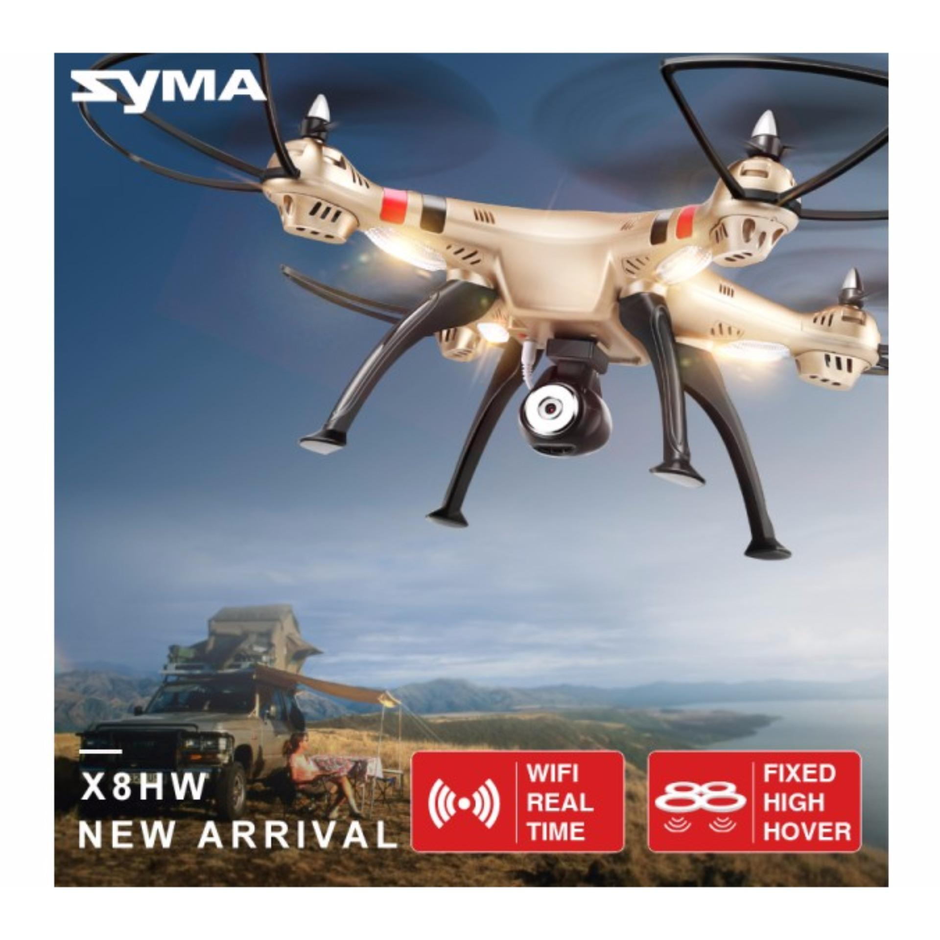 SYMA X8HW FPV RC Drone with WiFi HD 2MP Camera Real-time .