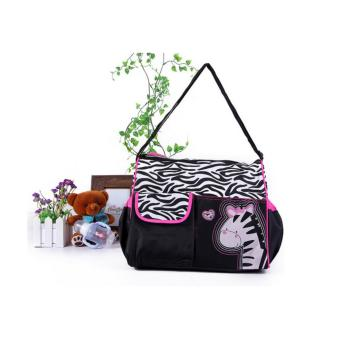 Allunique Tas Perlengkapan Bayi Motif - Zebra Pink