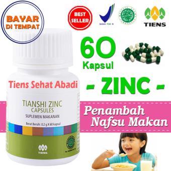 Tiens Zinc Penambah Nafsu Makan Anak - isi 60 Kapsul   Obat penggemuk badan   Suplemen