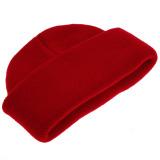 Balita Anak Bayi Perempuan Wol Rajutan Topi Tengkorak (Merah Hitam) -
