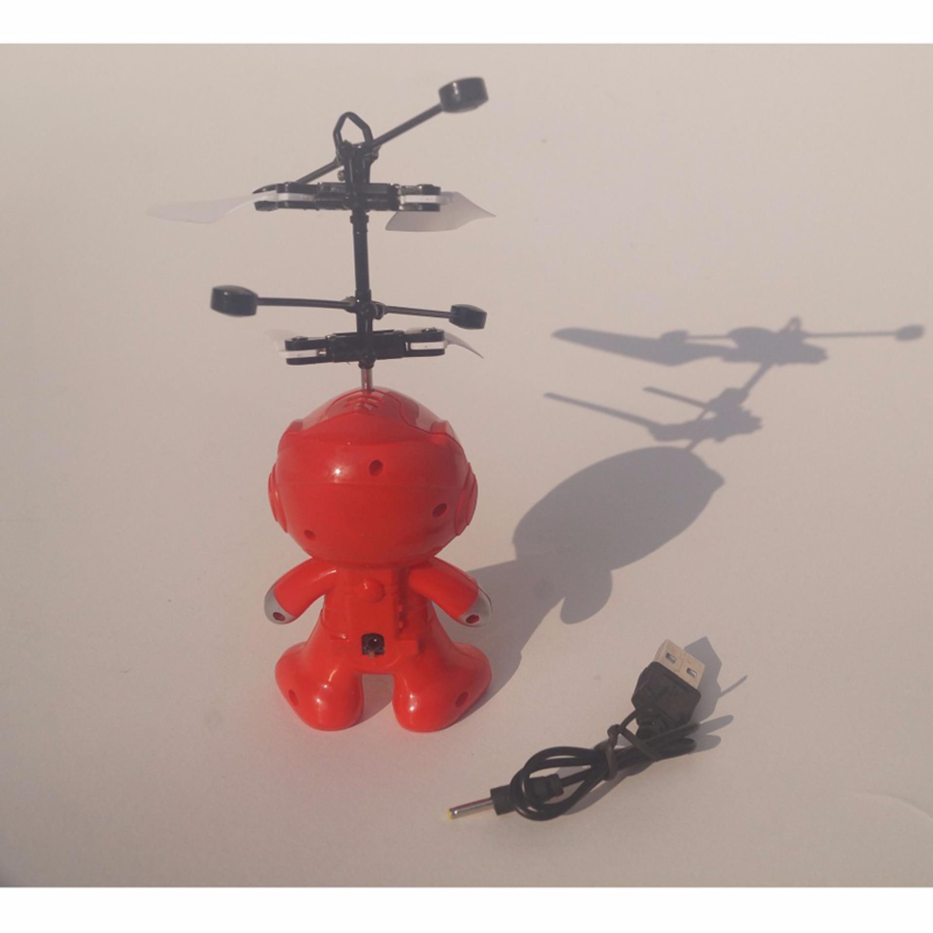 Tope Mainan Helikopter Spiderman Drone Flying Toys - Merah ...