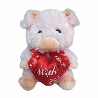 Perbandingan harga Toylogy Kado   Hadiah Valentine Boneka Babi + Hati (  With Love Cute Pingky Pig ) 9 inch Harga Penawaran e340f1a270