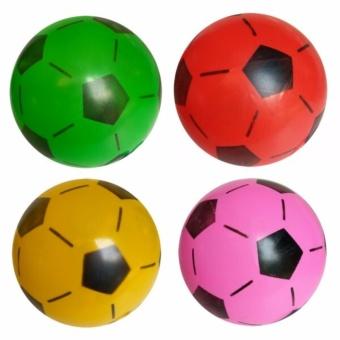 Toylogy Mainan Anak Bola Karet Tiup Motif Bola Sepak (Soccer Ball ) Multicolour