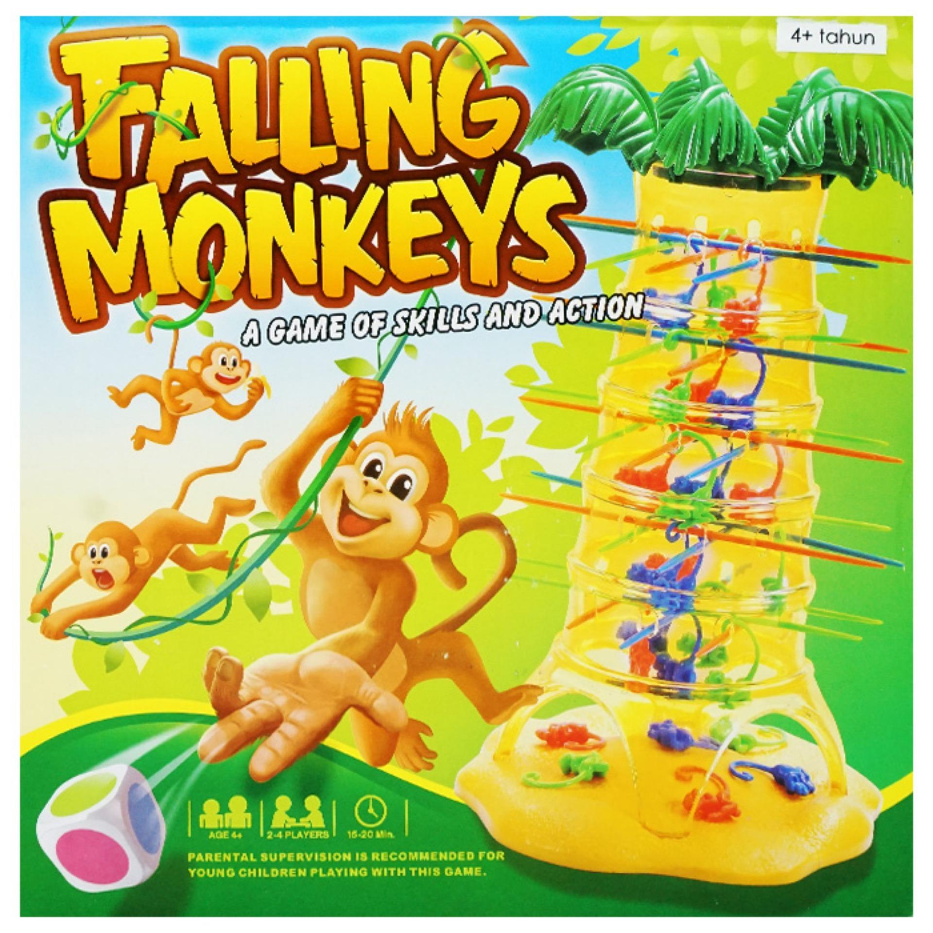 ... TSH Mainan Keluarga Falling Monkey Set   Family Game - Multi Colour ...