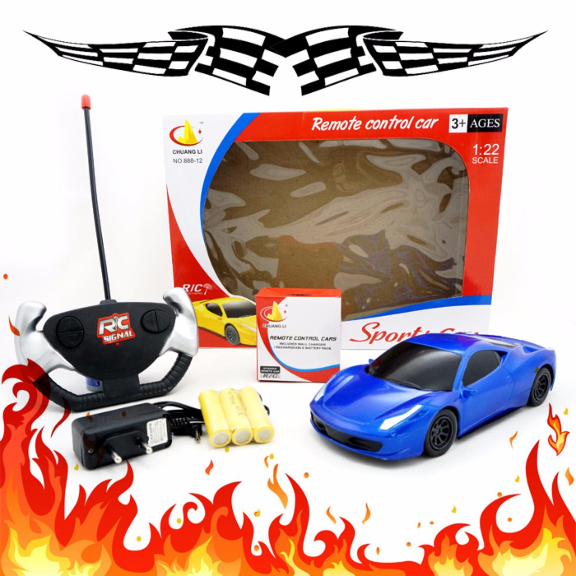 TSH Mainan Mobil Remote Control RC SPORT CAR Charger 1:22 -
