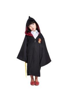 Ufosuit Harry Potter Gryffindor Jubah Jubah (Hitam/Merah)