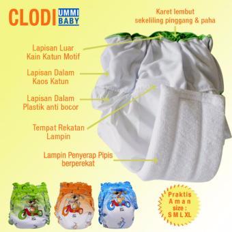 Ummi Baby Celana Clodi Praktis Model Pants Isi 2 (Size XL) .