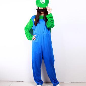 Unisex Halloween Adult Louis Mario Super Marie Clothes CosplayCostume -Size M