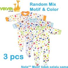 Velvet Junior Jumper Panjang Tutup Kaki Isi 3 pcs (Newborn)