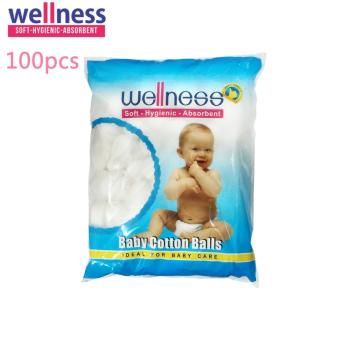 Wellness Cotton Balls Kapas Bola Isi 100 Pcs