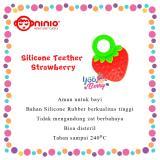 Gambar Produk Rinci YooBerry Ninio Silicone Teether Strawberry & Grapes Gigitan Bayi Silikon Buah-Buahan Terkini