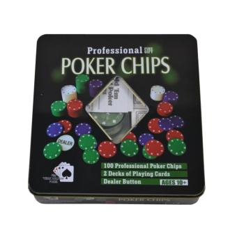 Zell Board Game Professional Poker Chips Game - Big Size - Multi Colour