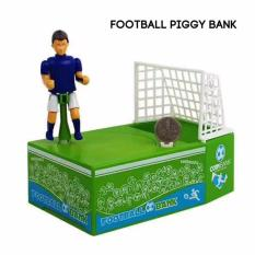 Zell Soccer Football Player Goal Kicking Coin Bank Saving Box Piggy Bank - Sepak Bola -