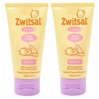 Zwitsal Baby Cream Extra Care Zinc 50ml - 2 Pcs
