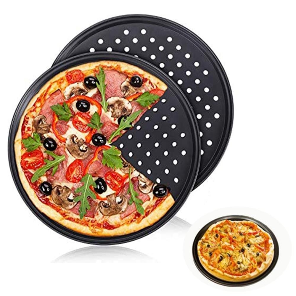 FEFDTQ Khay Lưới Pizza Nướng Thịt Bằng Thép Carbon Chuyên Nghiệp Khay Lưới Kim Loại Làm Bánh Kếp Khay Nướng Pizza Khay Nướng Pizza Đĩa Nướng Bánh