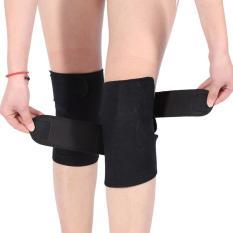 1 pasang turmalin diri penghangat ruangan terapi magnet sabuk pelindung lutut dukungan - Internasional